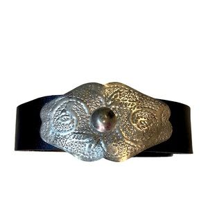 Perry Ellis leather with silver belt
